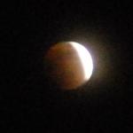 【皆既月食-2】赤い月