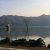 大川小学校前から長面方面へ。震災前の町の車載ビデオから見える町の風景