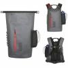 Amazon | 防水バッグパック 防水リュック ドライバッグ 多機能 アウトドア パック ツーリング収納袋 登山 釣り 旅行用 全体的な防水 大容量 25-35L超軽量 、2018年新デザイン(グレー) | BUBM | スポーツ&アウトドア