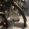 仮設住宅に積む雪と無音とシャリンシャリン