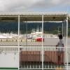 大島行きフェリーから見た気仙沼港